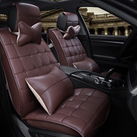 Cool Checkered Style Durable PVC Leather Universal Car Seat Cover
