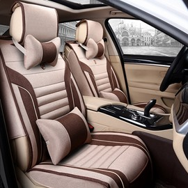 New Fashion Contrast Color Design Flax Universal Car Seat Cover