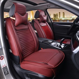 Luxurious Textured Smooth PVC Leather With Soft Velvet Blending Universal Car Seat Cover