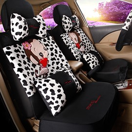 Popular Cute Monkey Models With Fashion Pattern Custom-Fit Five Car Seat Cover