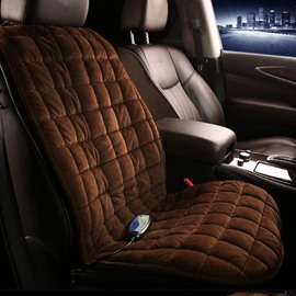 Luxury Checkered Coffee Style Heating And Multi-Function Massage Car Single Seat Mat