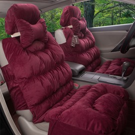 Super Thick Soft Velvet Material Charming Autumn Winter Five Universal Car Seat Cover