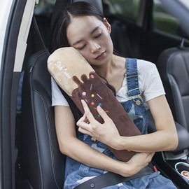New Chocolate Style Soft Velvet Creative Car Belt Cover
