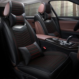 High Textured Pretty Permeability High-Grade PU Leather Material Universal Car Seat Cover