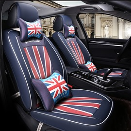 England Flag Pattern Design Fashion Element Durable PU Leather Universal Car Seat Cover