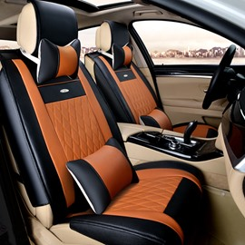 New Durable PU Leather Material With Contrast Color Fashion Design Universal Five Car Seat Cover