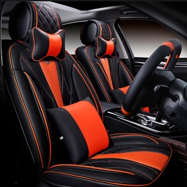 New 6D Sport Lines Design Dimensional Fashion Universal Five Car Seat Cover