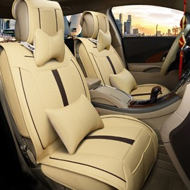 Multi-Use Massage And Refrigeration Features Durable Leather Universal Five Car Seat Cover