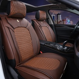 Classic Coffee Style PU Leather Material Fashion Universal Five Car Seat Cover