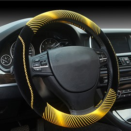 New Fashion Cool Yellow 3D Effect Design Medium Car Steering Wheel Cover