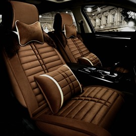 Luxury Unique Design With Classic Business Style Velvet Plush Material Universal Five Car Seat Cover