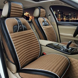 Luxurious Textured Rubbing Mixed Material Cozy Universal Five Car Seat Cover