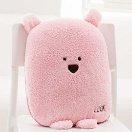 Lovely Cartoon Pink Bear Pattern Design Three Kinds Of Use Multi-Functional Car Pillow
