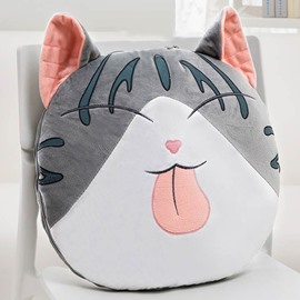 Cute Cartoon Big Face Cat Smiling Pattern Design Three Kinds Of Use Multi-Functional Car Pillow