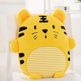 Cute Cartoon Small Tiger Pattern Design Three Kinds Of Use Multi-Functional Car Pillow