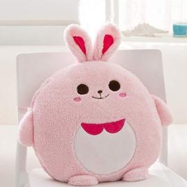Cute Cartoon Pink Rabbit Pattern Design Three Kinds Of Use Multi-Functional Car Pillow