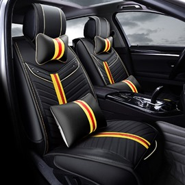 New Special Fashion Design Classic Durable PU Leather Material Universal Five Car Seat Cover