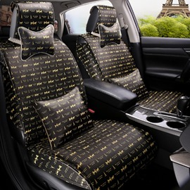 Eiffel Tower Fashion Design Super Cost-Effective Durable PU Leather Material Universal Car Seat Cover