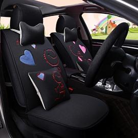New Creative Cartoon Love Theme Durable PET Material Universal Five Car Seat Cover