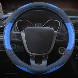 Simple And Elegant Four Season Sport Style Design Leather Medium Steering Wheel Covers