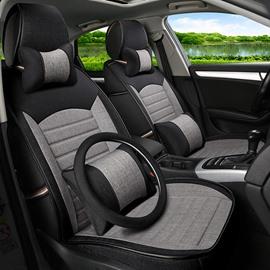Simple Deep Contrast-Color Design Blending Craft Universal Five Car Seat Cover
