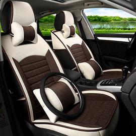 Classic Business Contrast Color Design PET Universal Five Car Seat Cover