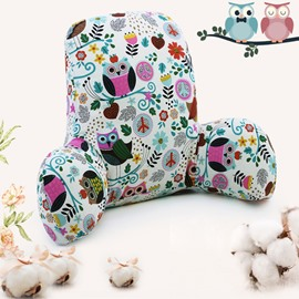 Fashion Owl Pattern Super Comfortable Single 1-Piece Car Lumbar Pillow