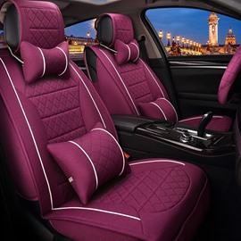 Attractive Purple Unique Style Design Durable PET Material Universal Five Car Seat Cover