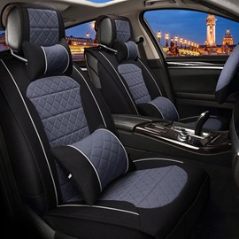 Bright Contrast Color Design Durable PET Material Universal Five Car Seat Cover
