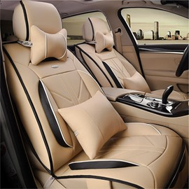 New Fashion Business Style Cost-Effective Durable PU Leather Material Universal Five Car Seat Cover