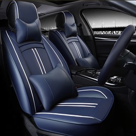 Luxury Classic Sport Style PU Leatherette Material Universal Five Car Seat Cover