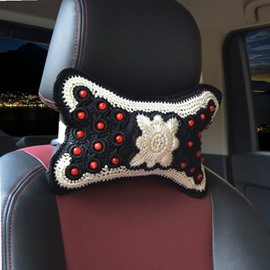 Traditional Handmade Craftsmanship Craft 1-Pair Synthetic Fiber Material Car Headrest Pillow
