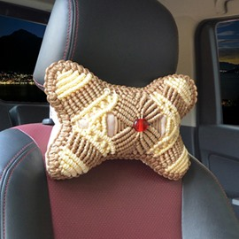 Special Hand Weaving Craft 1-Pair Synthetic Fiber Material Good Breathable Car Headrest Pillow