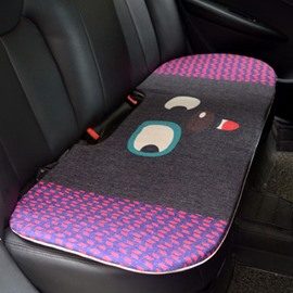Popular 1-Piece Cute Smiling Rabbit Cartoon Design Single Universal Car Rear Seat Mat