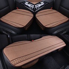 New Simple Style Durable PET Ice Silk Material Good Breathability Universal Car Five Seat Mat