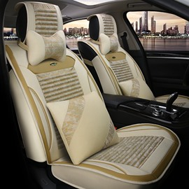 Comfortable Luxury Flax&Natural fibers Material Car Seat Cover