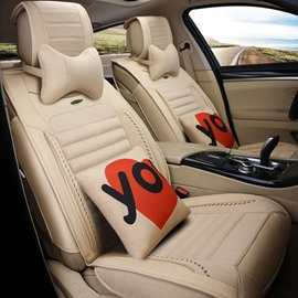 Rubbing Pattern Genuine Leather Health Solid Luxurious Car Seat Covers
