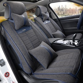 Flax And Natural Fibers Health Solid Luxurious Car Seat Covers