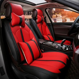 Rubbing Colorful Genuine Leather Durable Soft Luxurious Car Seat Covers