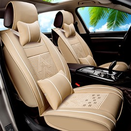 Soft Pattern Ice Silk And Rayon Luxurious Car Seat Covers