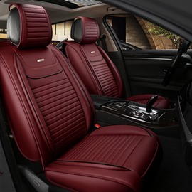 Permeability Genuine Leather Simple Durable Solid Car Seat Covers