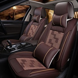 Pattern Permeability Ice Silk And Rayon Universal Luxurious Car Seat Cover