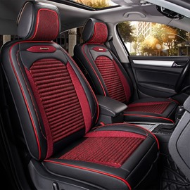 Modern Design Simple Fast Heat Dissipation Genuine Leather Car Seat Cover