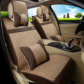 Trendy Patterns Professional Design Polka Dot Ice Silk And Rayon Universal Car Seat Cover