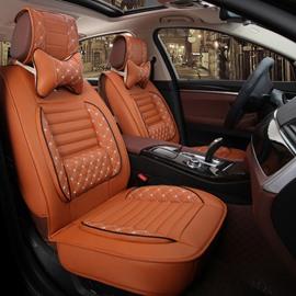 Beautiful in Colors Beautiful Design Polka Dot Genuine Leather Universal Car Seat Cover