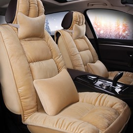 Delicate Colors Luxurious Solid Velvet Universal Car Seat Cover