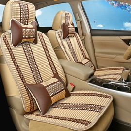 Fashionable Patterns Beautiful Design Striped Ice Silk And Rayon Universal Car Seat Cover