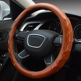 Thick Super Comfortable Water Wave Pattern Leather Steering Wheel Covers