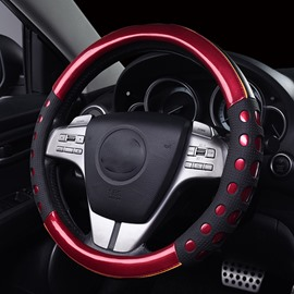 Bright Leatherette And Slip Resistance Gel Steering Wheel Cover