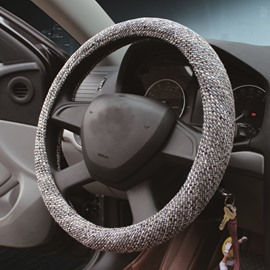 Superfine Massiness Flax Material And Easy Installation Steering Wheel Covers
